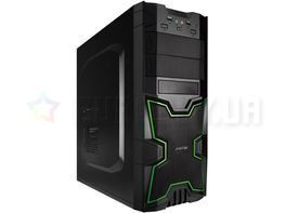 Корпус Midi Tower Akyga AKY313BG Black/Green USB 2.0