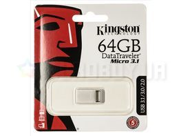 Флешка Kingston 64 GB DataTraveler Micro 3.1 DTMC3/64GB