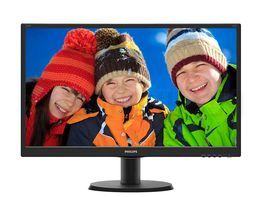 "Монитор LED 23.8"" Philips 240V5QDSB/00 Black"
