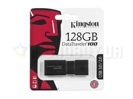 Флешка Kingston 128 GB DT100 G3 Black (DT100G3/128GB)