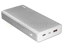 Power Bank Trust Omni Plus 22790 (20000mAh; microUSB, USB, USB-C; kolor srebrny)
