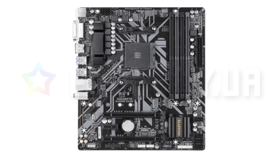 Материнская плата Gigabyte B450M DS3H (AM4, AMD B450, PCI-Ex16) rev.1