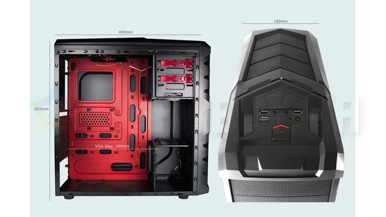 Корпус Tacens MARS GAMING MC4  Black (TACMARS-MC4)