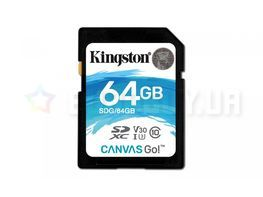 Карта памяти Kingston 64 GB SDXC class 10 UHS-I U3 Canvas Go! SDG/64GB
