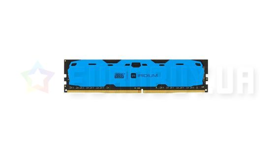 Оперативная память Goodram 4GB DDR4 2400 MHz Iridium Blue (IR-B2400D464L15S/4G)